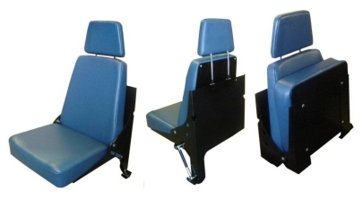 Wall Mounted Folding Seat With Adjustable Headrest